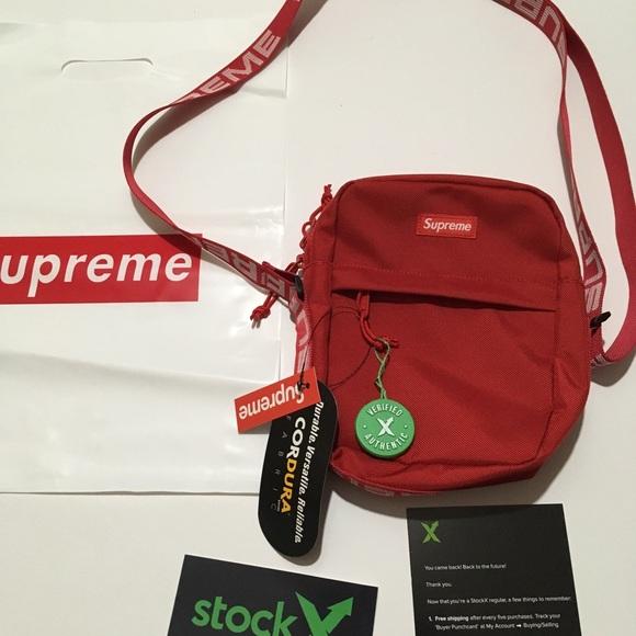 5f33b550 Supreme Bags   Fanny Pack Shoulder Bag Ss18 Red   Poshmark